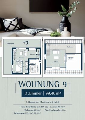 Wohnung 9: Plan 27a - Penthouse links