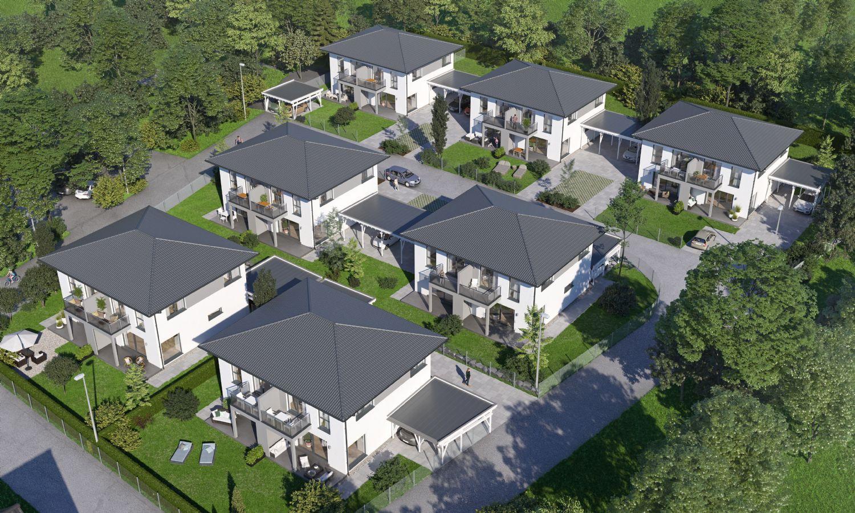 Exklusive Doppelhaushälften 105m2 mit Garten, Bodenplatte und Balkon in Palting