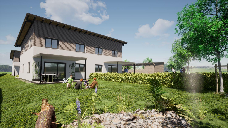 Neubau: Leistbares Eigenheim, Doppelhaushälfte 116m2 (ca. 10km entfernt von Mattsee)
