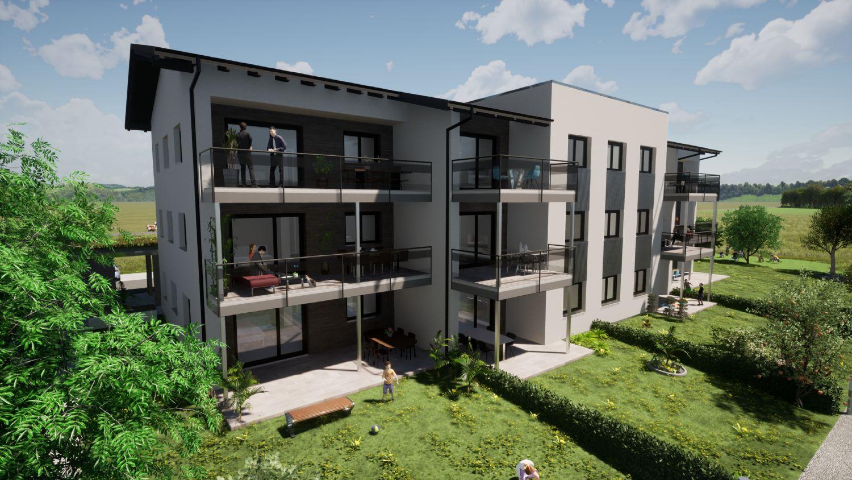 Neubau: OG TOP 12 - 3 Zimmer Wohnung mit Balkon in Eggelsberg nahe Lamprechtshausen (9 km)