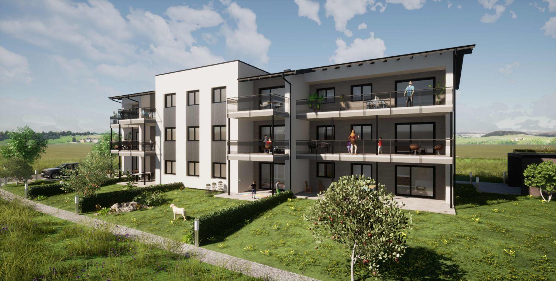 Eggelsberg nahe Lamprechtshausen (9 km) Neubau: OG TOP 5 - 3 Zimmer Wohnung mit Balkon
