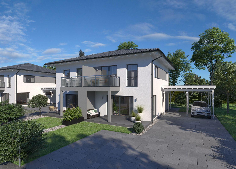 Doppelhaushälften 102m2 mit Garten und Bodenplatte in St. Georgen am Fillmannsbach / Belagsfertig